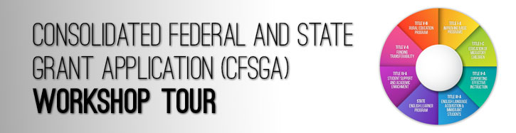 Consolidated Federal and State Grant Workshop banner